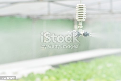 Watering system at hydroponic farm
