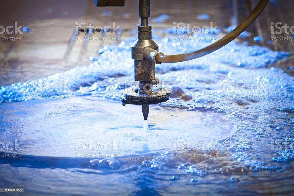 Waterjet Cutting Machine Detail royalty-free stock photo