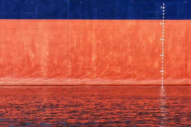waterline scale numbers on ship - hull stock pictures, royalty-free photos & images