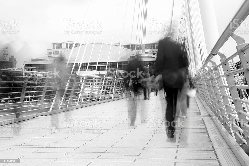 waterloo foot bridge royalty-free stock photo