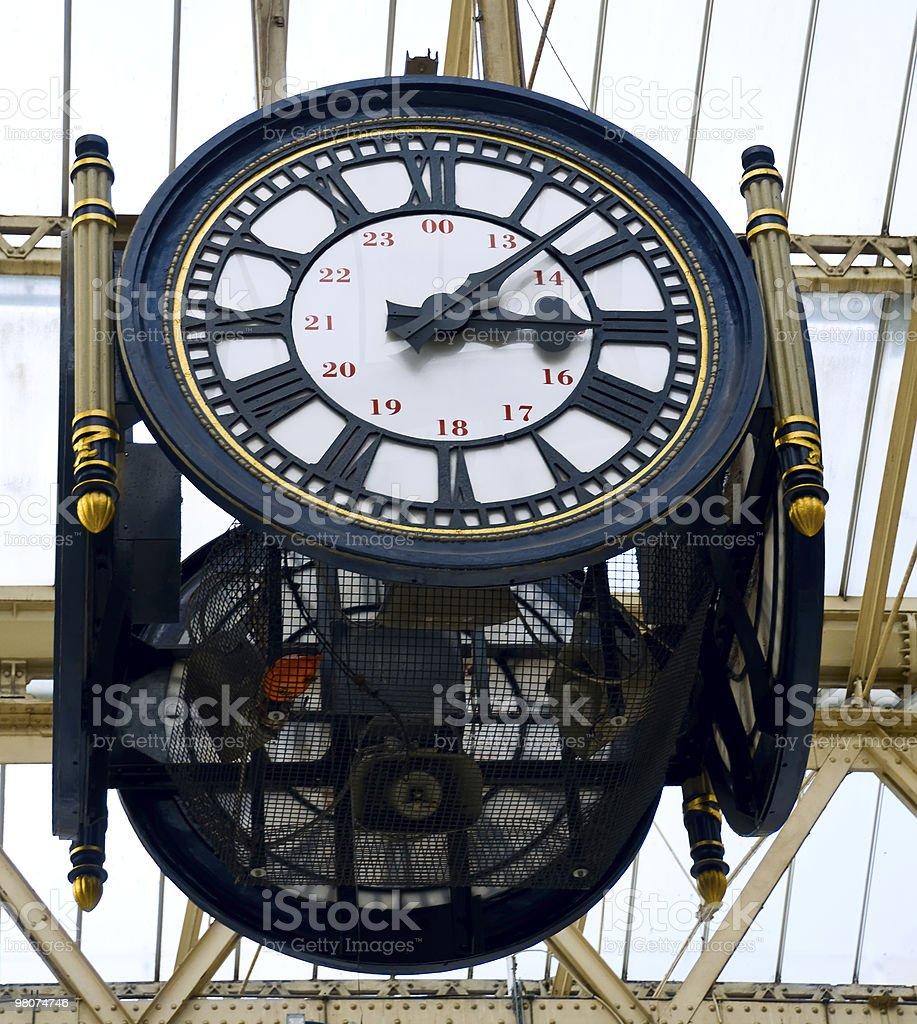 Waterloo station clock royalty-free stock photo