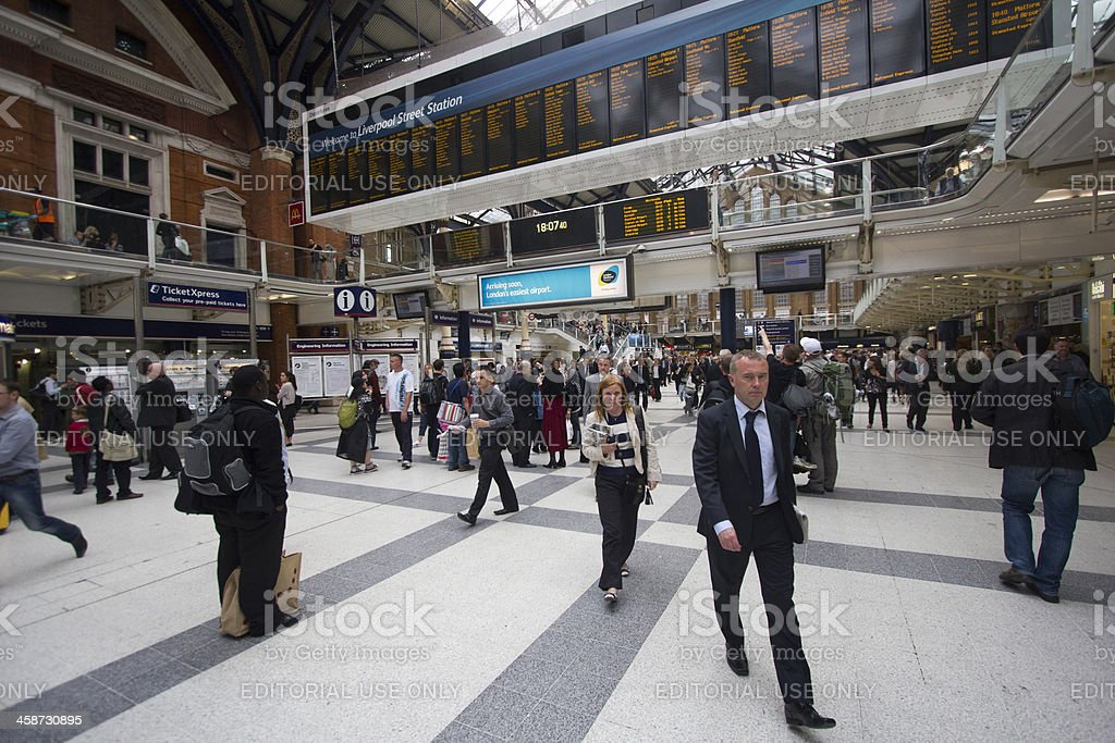 Waterloo Station Passengers stock photo