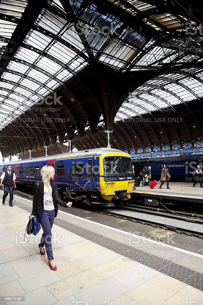Waterloo Station Transit Vertical stock photo