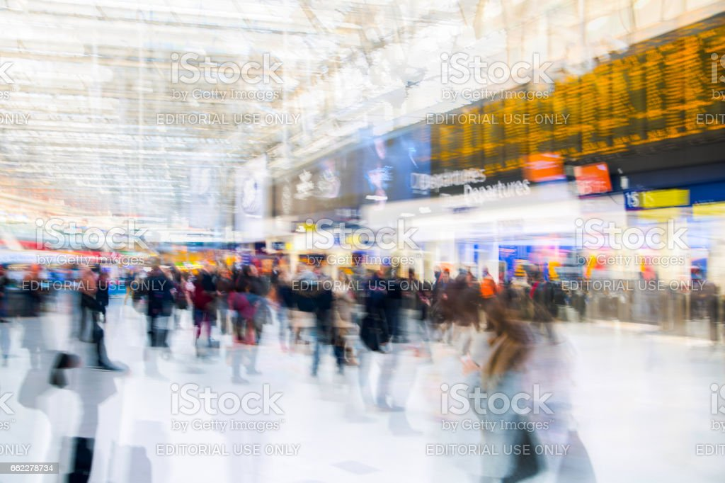Waterloo train station. London, UK royalty-free stock photo