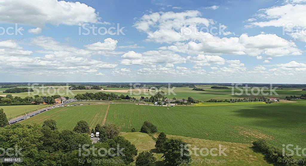 waterloo view of battle field stock photo