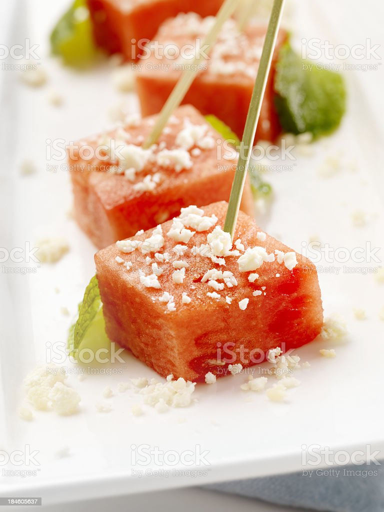 Watermelon Appatizers royalty-free stock photo