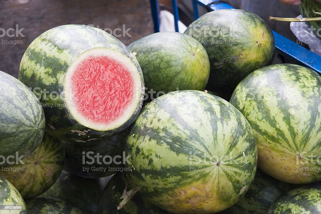 Watermelon at Market royalty-free stock photo