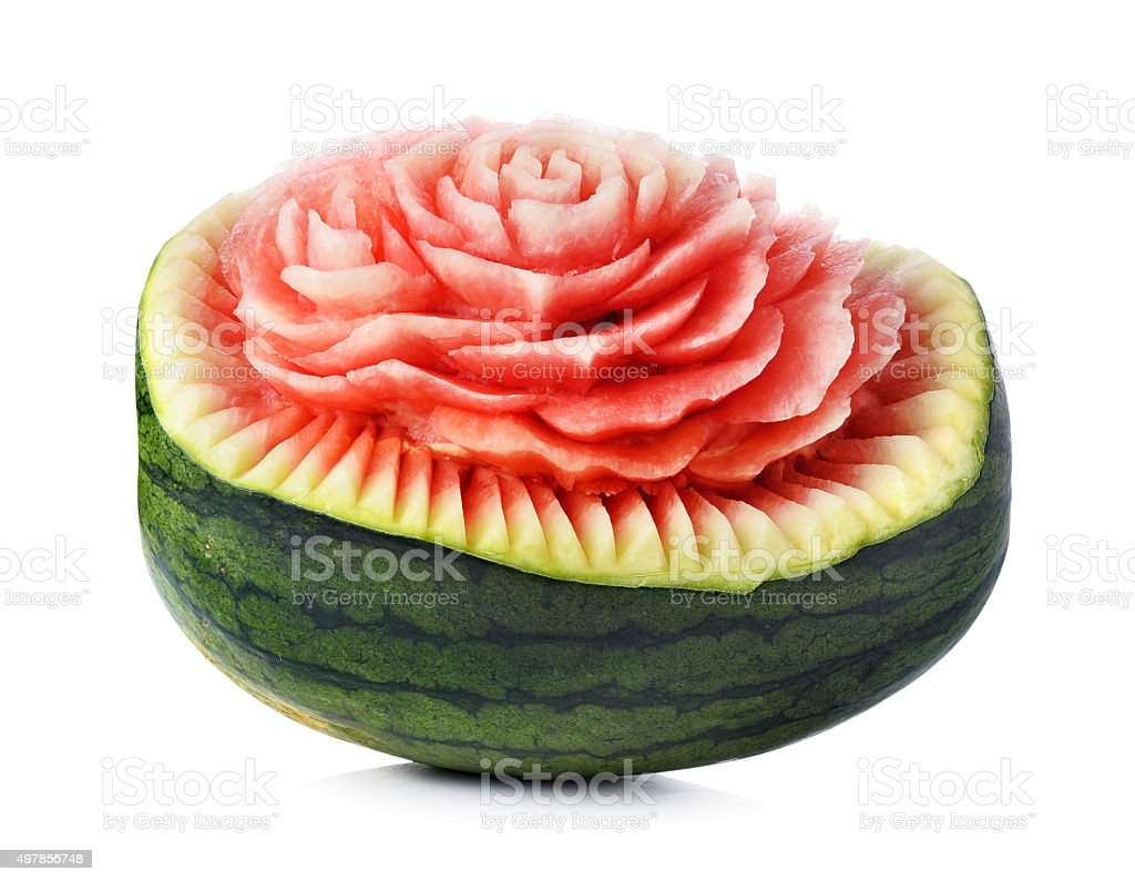Watermelon carving isolated on white stock photo more pictures