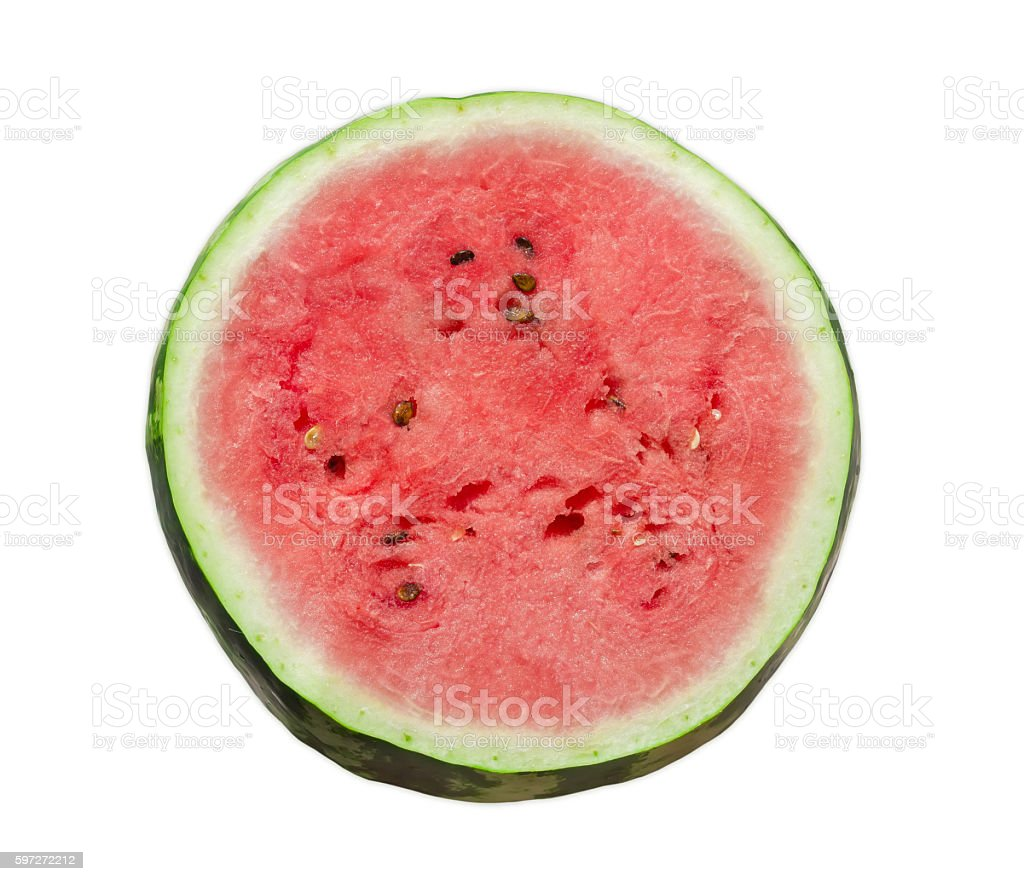 Watermelon cross section on a light background royalty-free stock photo