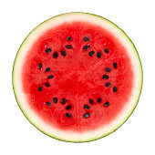 istock Watermelon Cross Section On White 185125355