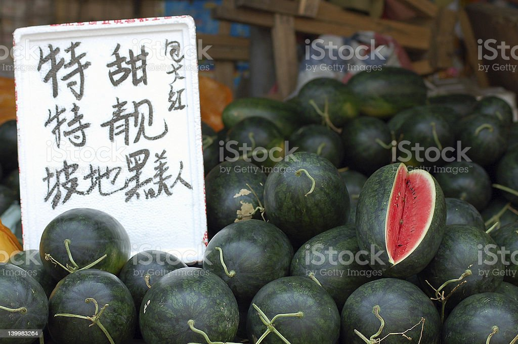 Watermelon for sale. stock photo