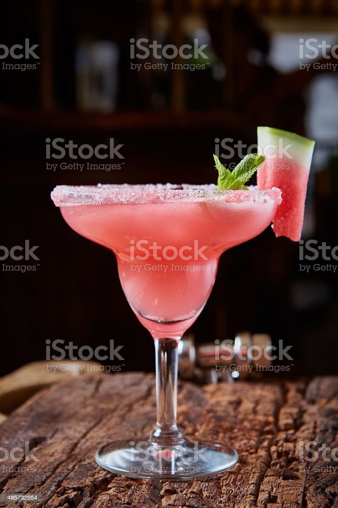 Watermelon frozen cocktail stock photo