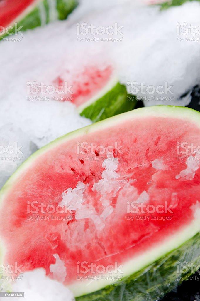 Watermelon Halves royalty-free stock photo
