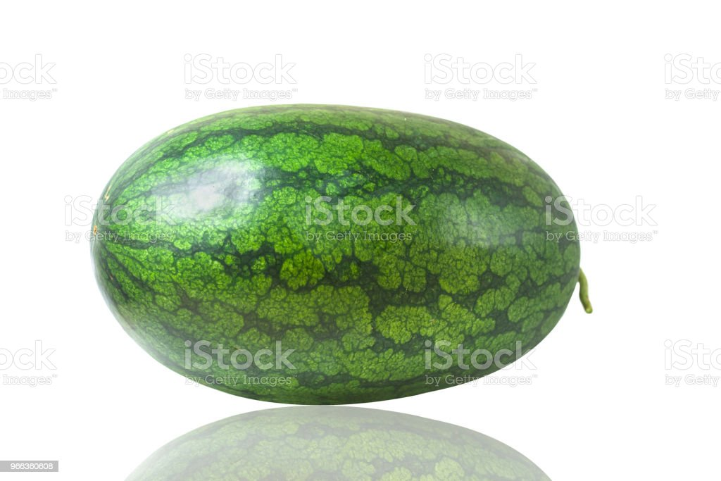 A watermelon is isolated on a white background stock photo