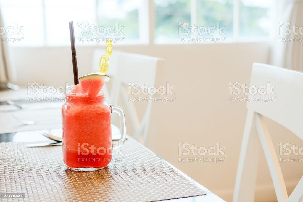 Watermelon juice stock photo