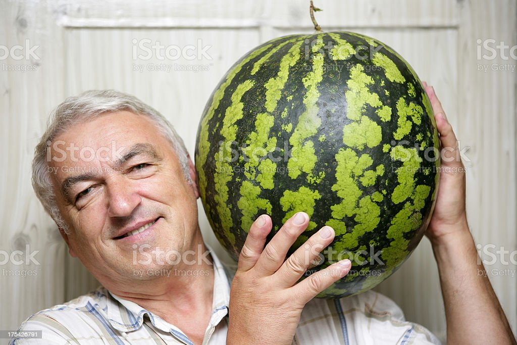 Water-melon lover royalty-free stock photo