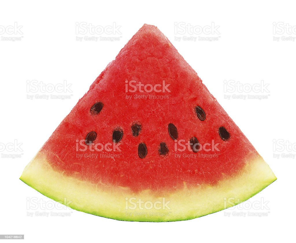 Watermelon slice royalty-free stock photo