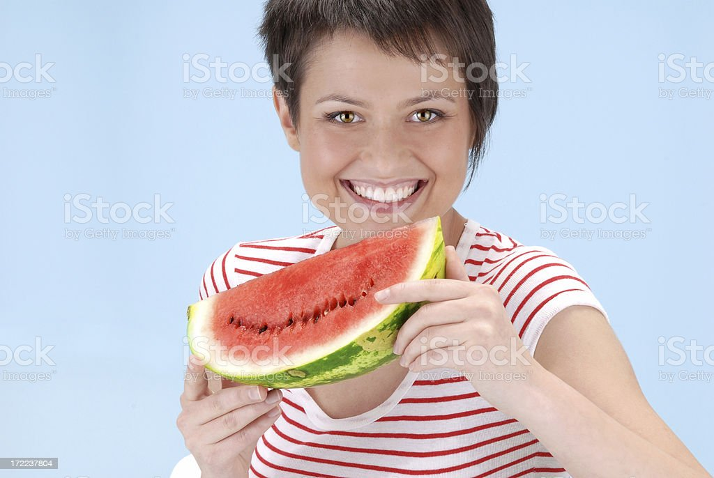 Watermelon smile royalty-free stock photo