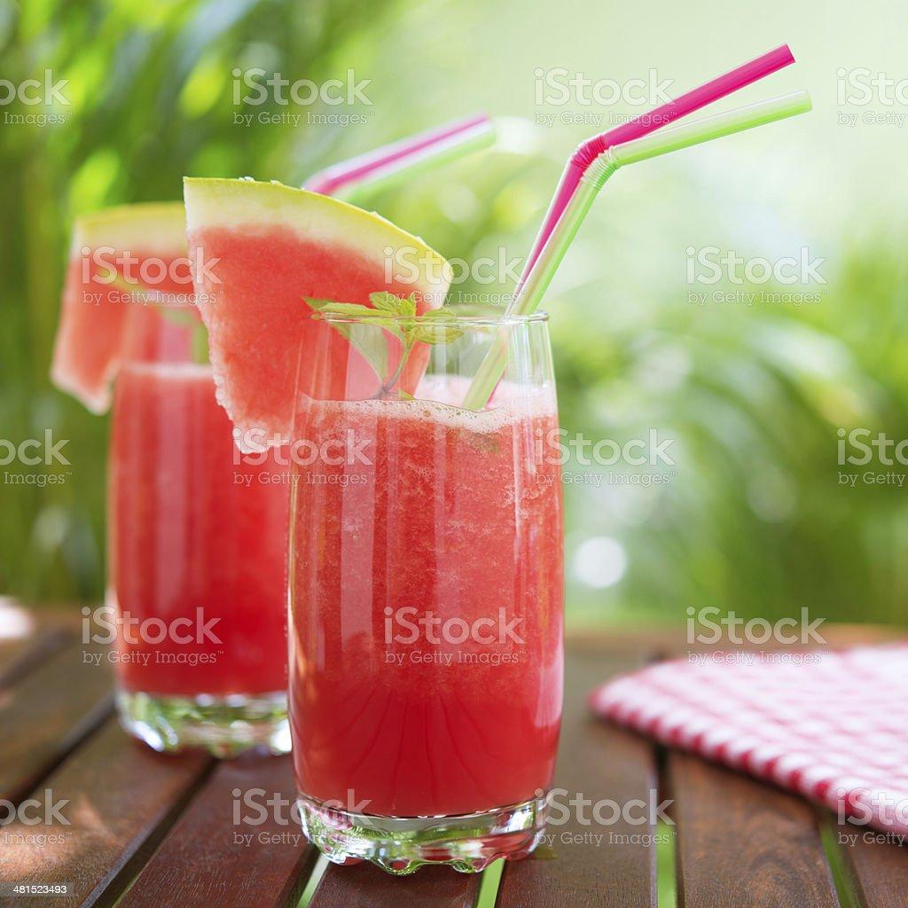 Watermelon smoothie stock photo