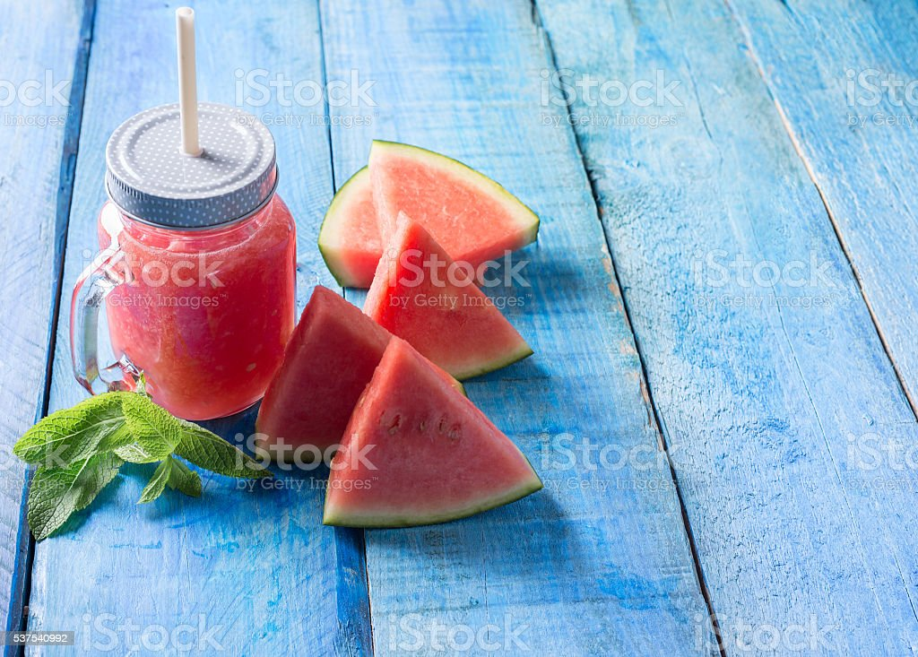 Watermelon smothie stock photo
