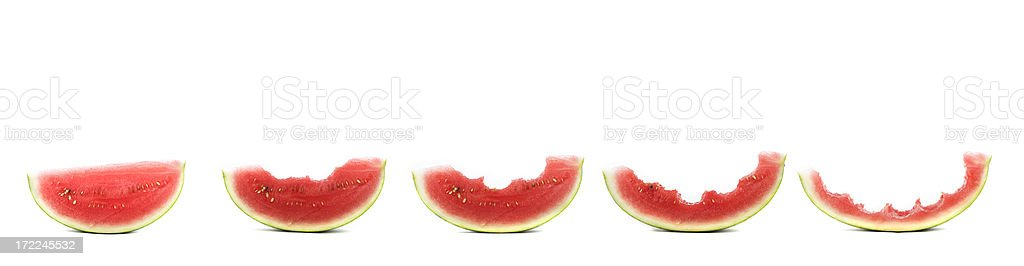 Watermelon Stages royalty-free stock photo