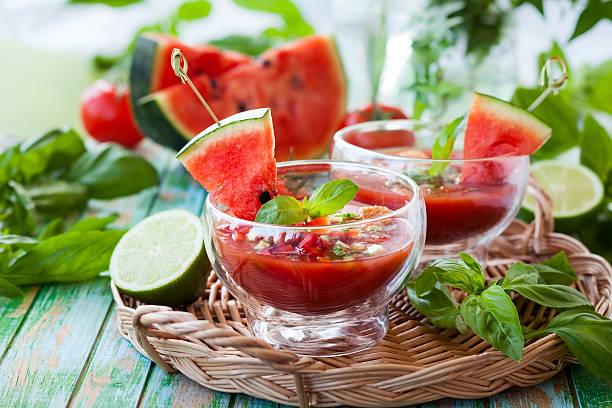 Wassermelonen-Tomaten-Gazpacho – Foto