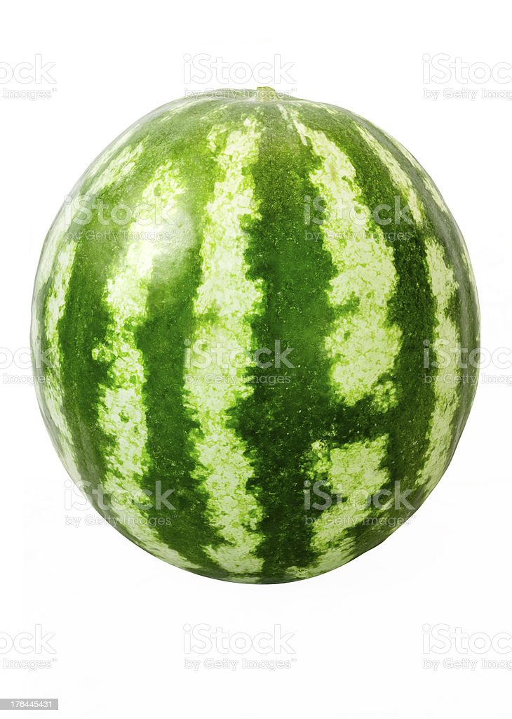 Watermelon With Clipping Path royalty-free stock photo