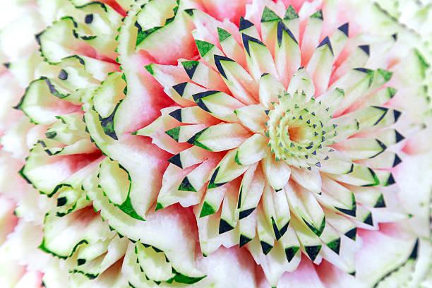 pastèque avec motif feuillage - motif ornemental photos et images de collection
