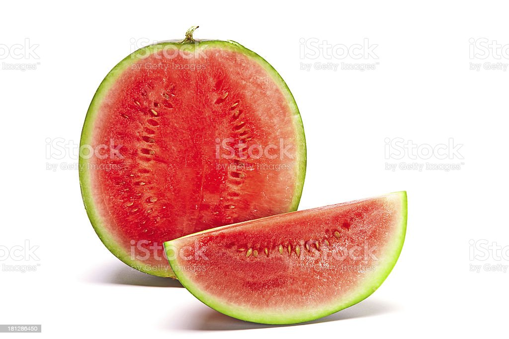 Watermelon with Slice royalty-free stock photo