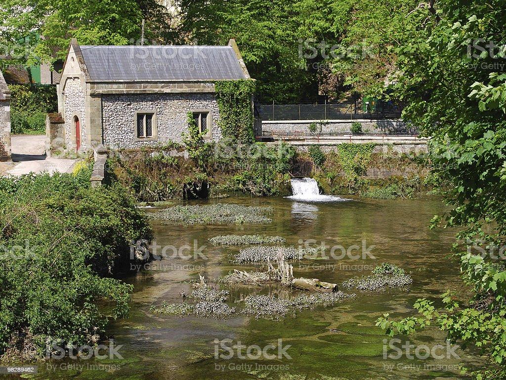 Mulino ad acqua. Arundel. Sussex ad ovest. Inghilterra foto stock royalty-free