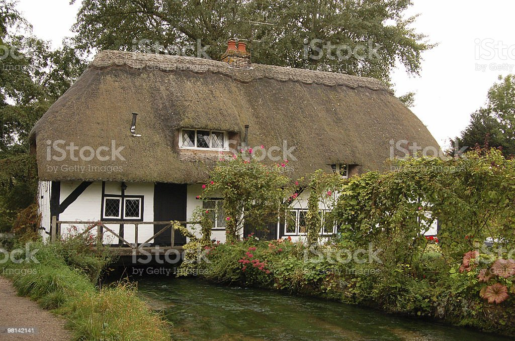 Watermill cottage, Alresford royalty-free stock photo