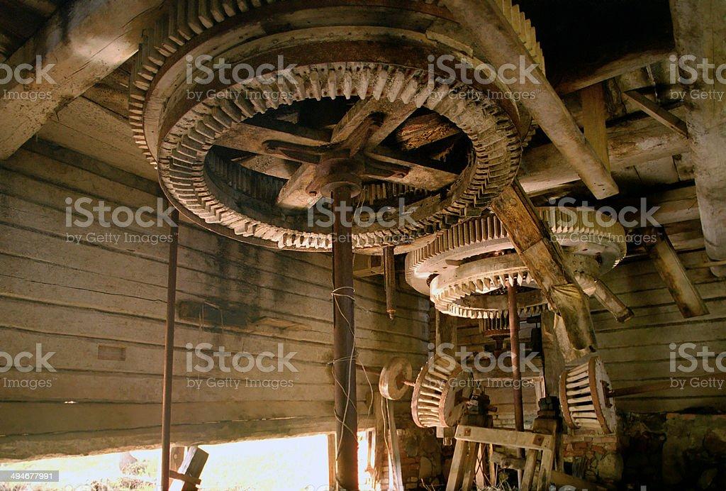 watermill interior stock photo