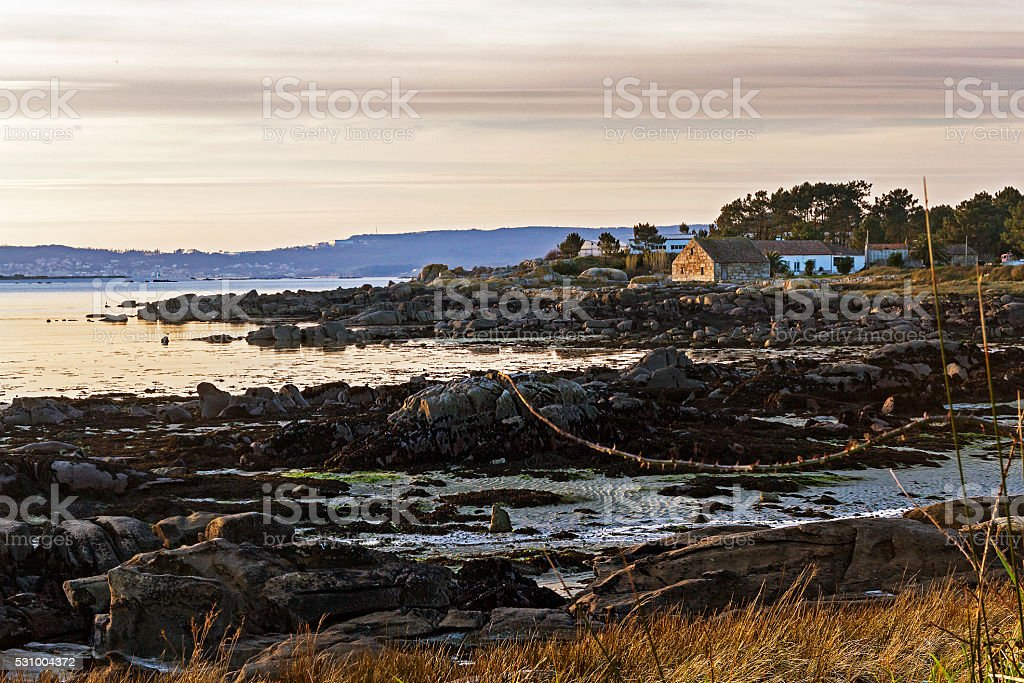 Watermill on Acenas coast royalty-free stock photo