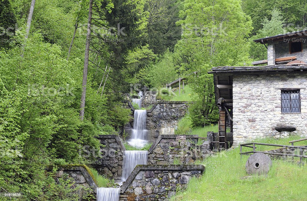 water-mill stock photo