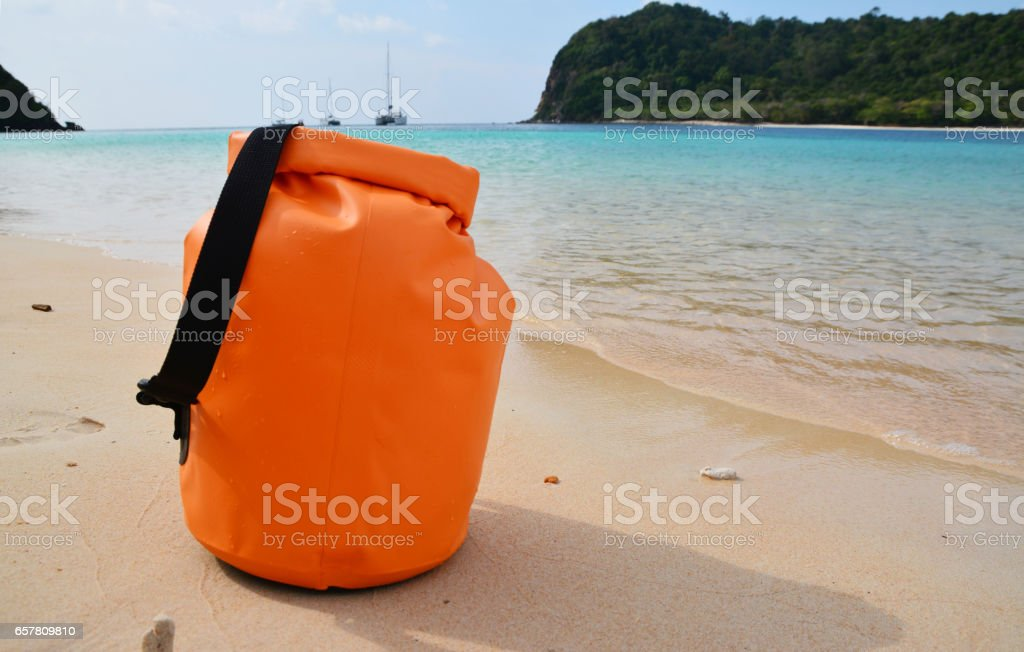 Waterproof bag stock photo