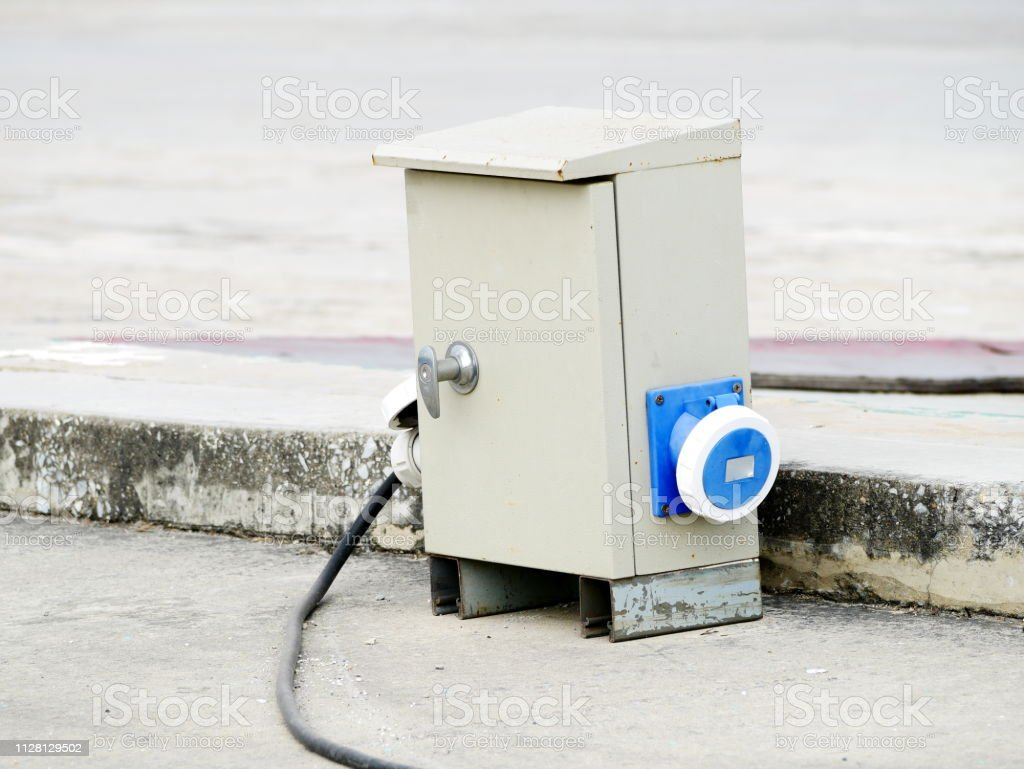 Waterproof Exterior Power Outlet Stock Photo & More Pictures of
