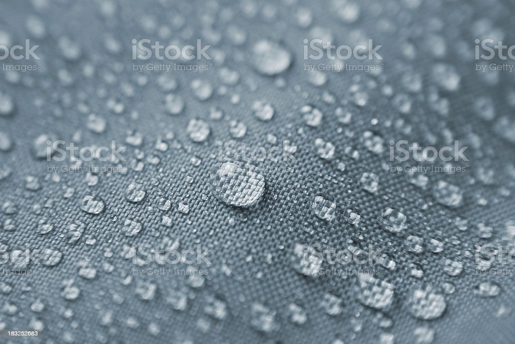 Waterproof textile II stock photo