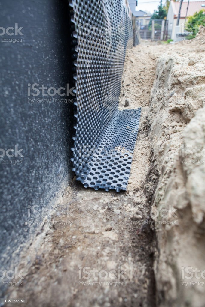 Waterproof Waterproofing Of The House Foundation Stock Photo Download Image Now Istock