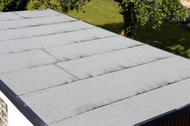 Abdichtung Flachdach mit Bitumen Abdichtung Membranen – Foto