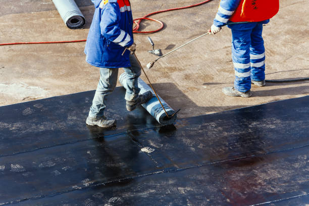 waterproofing foundation flat roof repair stock photo