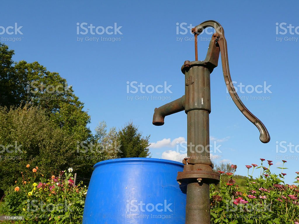 Waterpump And Barrel Stock Photo - Download Image Now - iStock