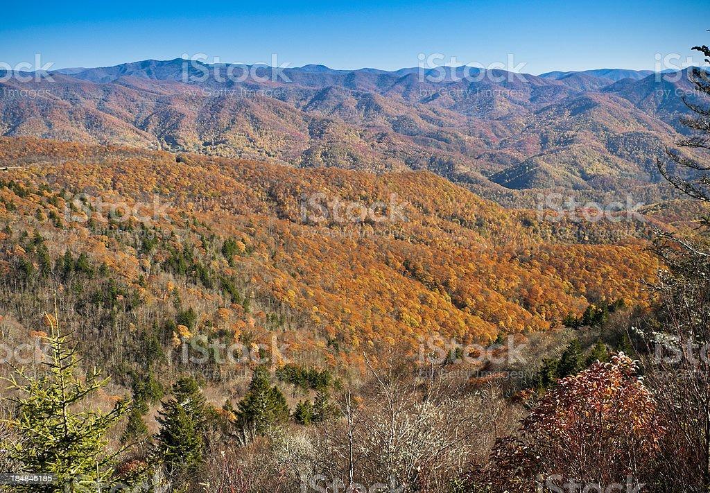 Waterrock Knob Viewpoint, Blue Ridge Parkway, North Carolina, USA royalty-free stock photo