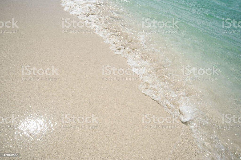 Waters edge on beautiful beach royalty-free stock photo