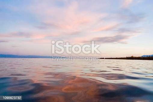Waters of Lake Baikal, The water surface of Baikal, a beautiful landscape