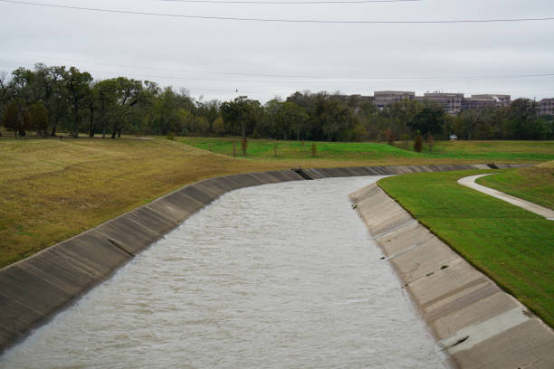 Watershed in an Urban Area stock photo