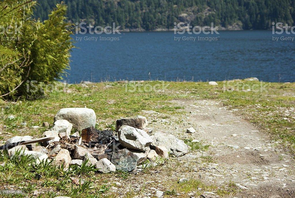 Waterside Firepit royalty-free stock photo
