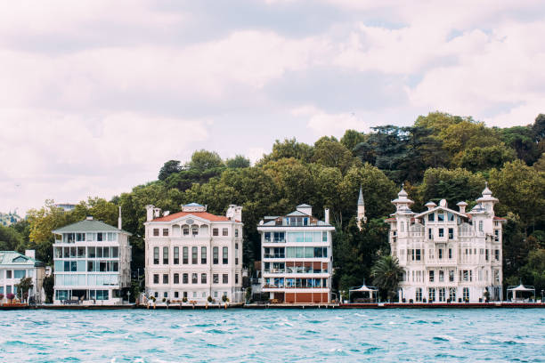Waterside House in Istanbul Waterside House in Istanbul bosphorus stock pictures, royalty-free photos & images