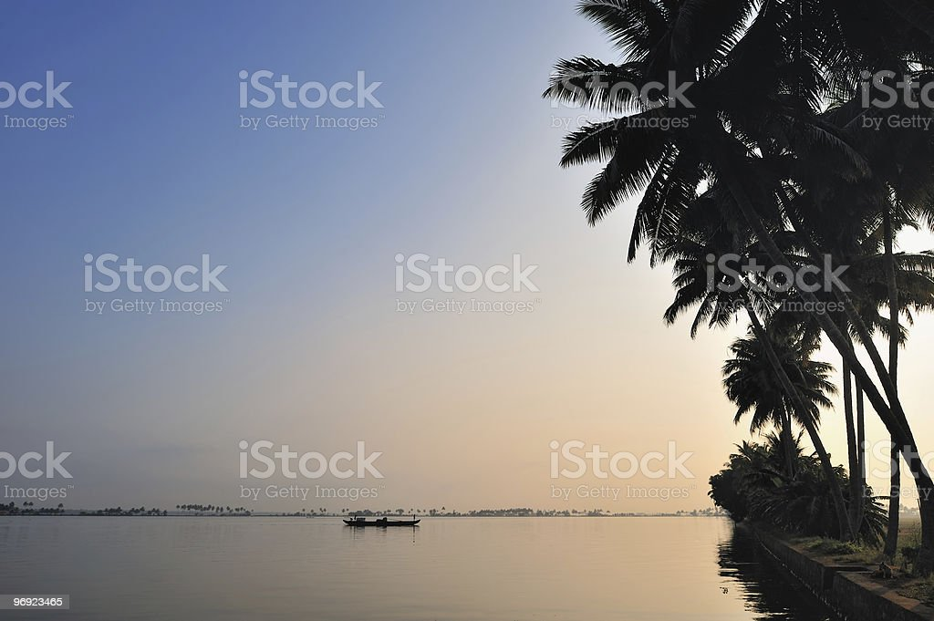 Waterside royalty-free stock photo