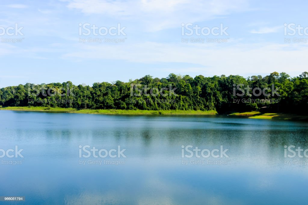 waterside scenery at Chulabhorn Dam ,Chaiyaphum THAILAND - Royalty-free Asia Stock Photo