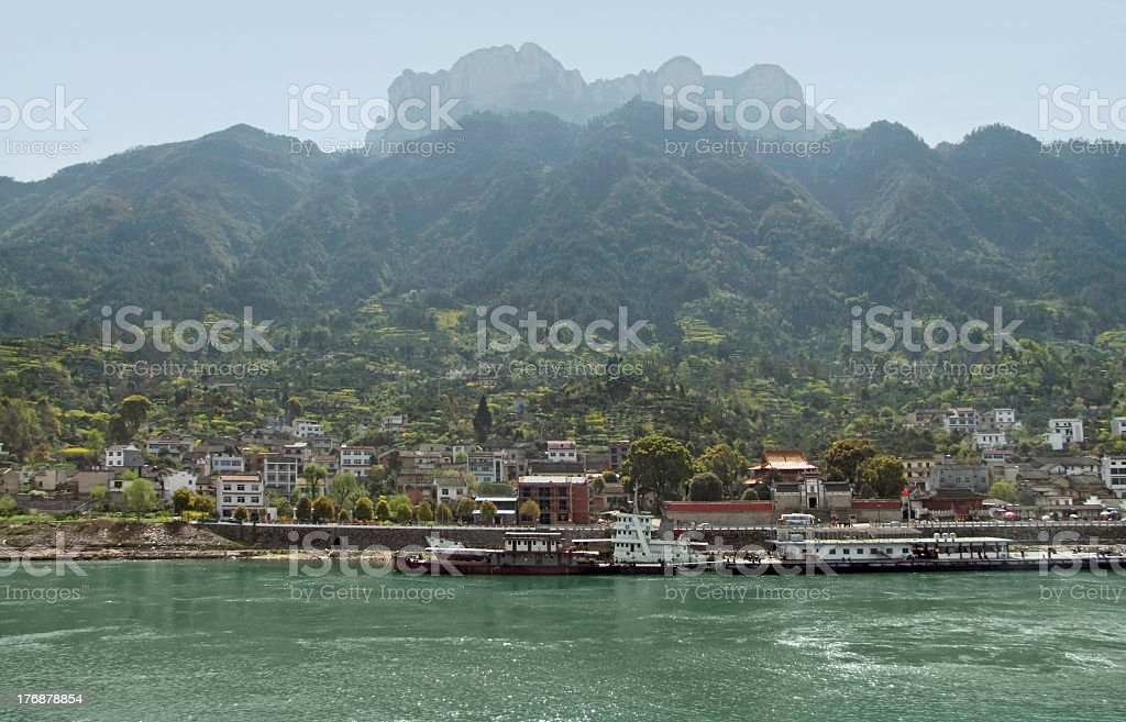 waterside scenery at Yangtze River in China royalty-free stock photo